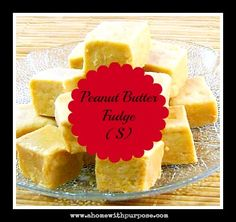 Peanut Butter Fudge (S)  Sugar Free, Low Carb and YUMMY!