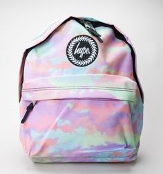 Hype Pastel Clouds Backpack Multi Accessories Bags