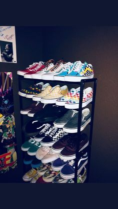 Shoe Box Decoration Ideas Best Of I Need This Collection Heels In 2019 - Schuhe Ideen Cute Vans, Cute Shoes, Me Too Shoes, Aesthetic Shoes, Vans Off The Wall, Dream Shoes, Shoe Closet, Shoe Box, Vans Women