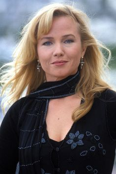 10 becky's with good hair: Rebecca De Mornay, actress, with shaped side bangs.