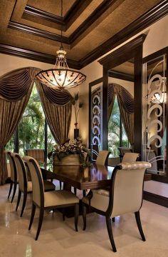 Luxury dining room.