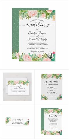Rustic Succulent Cactus Floral Invitation Suite Rustic Succulent Cactus Floral Invitation Suite, with items from Invitations to RSVP card, Information Card, Labels, Sign Posters and more. Mason Jar Wedding Invitations, Summer Wedding Invitations, Engagement Party Invitations, Floral Wedding Invitations, Invites, Cactus Wedding, Floral Invitation, Back To Nature, Rsvp