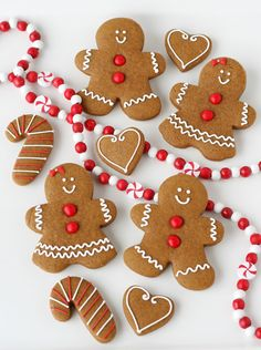Cute gingerbread people.