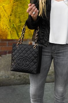 55db5add84f The perfect shoulder bag, this petit tote screams chic! One of Chanel's  most iconic