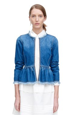Call us to order - Denim jackets aren't going anywhere (thankfully!) Easy to throw on and naturally versatile, this fringe hem denim jacket for Rebecca Taylor is perfect for those gorgeous summer nights.