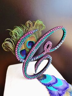 Rhinestone Peacock Theme Cake Topper by ParisBakeryPretties, $90.00 found my cake topper!!