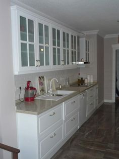 Decor, Simple Kitchen Remodel, Interior, Kitchen Cabinets, Kitchen Remodel, Home Decor, Kitchen Bar Stools, Home Deco, Kitchen Design