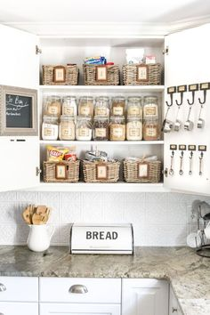 Love all of the jar storage as well as the baskets