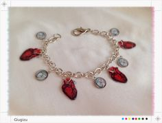 #vintage #anatomical illustrations inspired #accessories, if you are interested check my blog here: http://giugizu.blogspot.it/2014/04/vintage-anatomical-illustrations.html #bracelet #heart