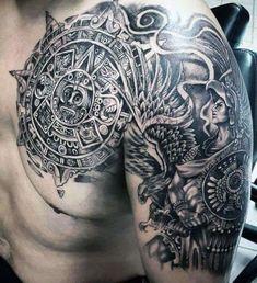 maori chest and arm tattoo #TattooIdeasMale