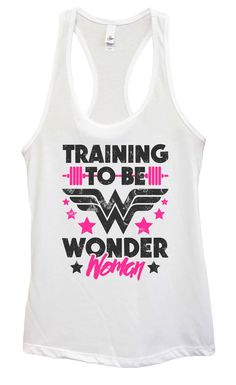 Womens Training To Be Wonder Woman Grapahic Design Fitted Tank Top