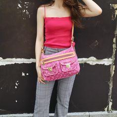 "c656cab0af7e AMORE vintage TOKYO on Instagram: ""Louis Vuitton Pink denim monogram Baggy  PM Free Shipping Worldwide✈ DM for more information ..."