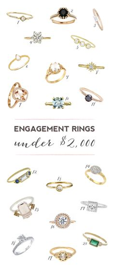 20 Stunning Engagement Rings Under $2,000!