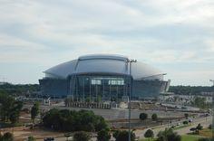 New Cowboys Stadium seen from the Rangers Ballpark terrace, Arlington, TX