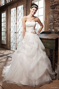 sincerity bridal wedding dresses 2013 strapless ball gown 3707