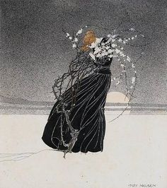 This was done by Kay Nielsen, one of several great artists that were from the time of the Golden Age of Illustrations.