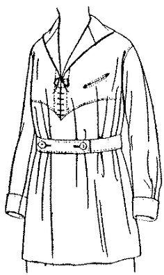 Past Patterns: #9116: Ladies' Blouse: Circa 1917