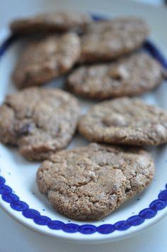 Cookies med lakrids, hasselnødder og chokolade