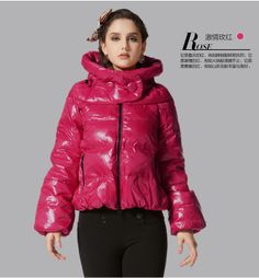 Free Shipping Brand Hot Sale Red/Black/White Down Jackets For Women Fashion 2013 Winter Down Jackets Women B16 $82.00