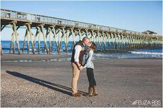 winter engagement photo at the beach #beachengagementpictures #myrtlebeach #photographer