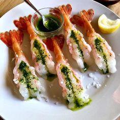 Surf No Turf (Seafood Media) ( Wine Recipes, Great Recipes, Whole Food Recipes, Sushi Guide, Thai Peanut Salad, Spot Prawns, Prepper Food, Decadent Food, Food Jar