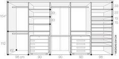 Resultado de imagem para ergonomia armarios closet