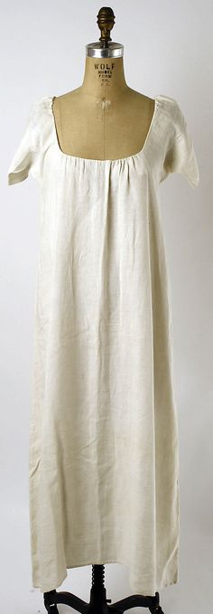 Chemise  Date: third quarter 18th century Culture: French Medium: linen