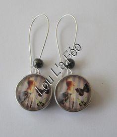 """boucles d'oreilles boutons-pression """"couture"""" 20 mm, grandes dormeuses : Boucles d'oreille par lou-l-a-fee-creations-bijoux-fantaisie"""