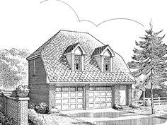 Garage Apartment Plan, 054G-0001 27 w x 25 d