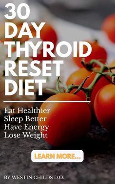 Diet Plan for Hypothyroidism - 30 day thyroid reset diet includes: 4 week meal plan, detox guide, exercise guide supplement guide Diet Plan for Hypothyroidism - Thyrotropin levels and risk of fatal coronary heart disease: the HUNT study. Thyroid Diet, Thyroid Health, Hypothyroidism Diet Plan, Thyroid Issues, Losing Weight With Hypothyroidism, Thyroid Vitamins, Kidney Health, Thyroid Disease, Metabolism