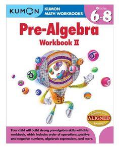 AmazonSmile: Kumon Pre-Algebra Workbook II (Kumon Math Workbooks) (9781935800842): Jason Wang, Kumon Publishing: Books