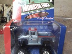 NEW ENGLAND PATRIOTS MONSTER TRUCK 1956 FORD F-100 DIE-CAST METAL TRUCK