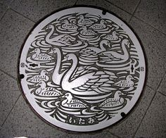 Japanese manhole cover - they do it in sublime style