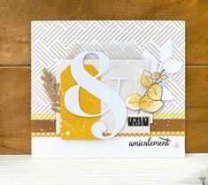 Paper Cards, Diy Cards, Mini Albums, Scrapbooking, Greeting Cards, Yellow, Handmade, Crafts, Handmade Cards