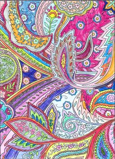 Leila (Under 12 division) Paisley Coloring Pages, Coloring Book Pages, Creative Art, Creative Design, Typography Art, Paisley Design, Pickle, Art Journaling, Division