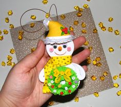 Christmas tree toy Christmas snowman Christmas by QuillingLife