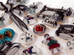 shrinky dinks as buttons and other doodads.
