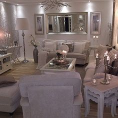 Cozy Living Room Ideas for Small Apartment - The Urban Interior Cozy Living Rooms, Living Room Grey, Home Living Room, Apartment Living, Living Room Designs, Living Room Decor, Living Spaces, Silver Living Room, White Living Room Furniture
