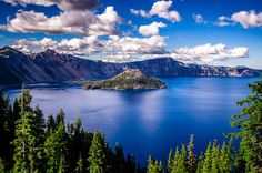 It's Spring season, and the best time to visit Crater Lake National Park in Oregon. Book your private charter in Seattle and cruise to Oregon to visit this beautiful park. Contact us today to discuss your charter requirements. Lac Tahoe, Week End Romantique, Crater Lake Oregon, Spring Break Destinations, Amazing Destinations, Travel Destinations, Road Trip, Romantic Weekend Getaways, Crater Lake National Park