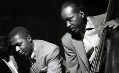 Wynton Kelly and Gene Ramey by Francis Wolff Hackensack, New Jersey, December 16, 1956 #jazz