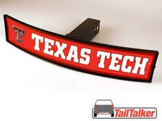 Texas Tech Red Raiders Trailer Hitch Cover Illuminated NCAA Officially Licensed by tailtalker on Etsy