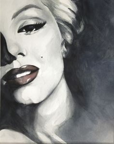 Marilyn Moroe portrait by HOMartistry | This image first pinned to Marilyn Monroe Art board, here: http://pinterest.com/fairbanksgrafix/marilyn-monroe-art/ || #Art #MarilynMonroe