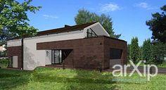 "Дом ""Современная изба"": архитектура, 2 эт   6м, жилье, модернизм, 100 - 200 м2, фасад - кирпич, каркас - ж/б, коттедж, особняк #architecture #2fl_6m #housing #modernism #100_200m2 #facade_brick #frame_ironconcrete #cottage #mansion arXip.com"