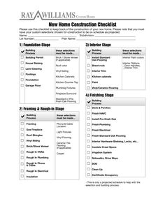 Home Construction Checklist   How To Create A Home Construction Checklist?  Download This Home Construction