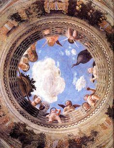 Figure 3.  Mantegna's Ceiling           Oculus in the Camera degli Sposi, Mantova, 1465.  A pic of heaven