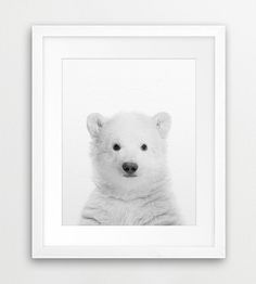 Bear Print Polar Bear Wall Art Bear Cub Photo Black u0026 White Animal Print Modern Wall Art Nursery Decor Kids Room Prints Printable Art  sc 1 st  Pinterest & Baby Deer Print Woodlands Animal Nursery Wall Art Black White ...