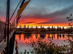 Sunset in the Old Mill District of Bend, Oregon ------------------------- @alicedoggett