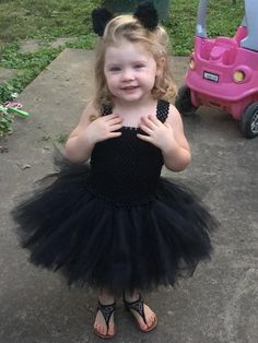 Items similar to Black Cat Costume - Black Cat Toddler Costume - Black Tutu Dress - Halloween Toddler Costume - Tutu Dress including tail and clip on ears on Etsy Toddler Halloween Costumes, Halloween Dress, Black Cat Costumes, Black Tutu, Tutu Costumes, Flower Girl Dresses, Ears, Wedding Dresses, Color