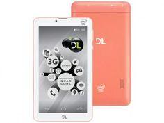 """Tablet DL Tecphone 610 8GB 7"""" 3G Wi-Fi Dual Chip - Android 5.1 Intel Atom Câm. 0.3MP Função Celular com as melhores condições você encontra no Magazine Mgazinenunes. Confira!"""