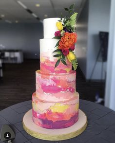 Pretty Cakes, Cute Cakes, Yummy Cakes, Beautiful Wedding Cakes, Beautiful Cakes, Amazing Cakes, Hand Painted Cakes, Wedding Cookies, Wedding Cake Inspiration